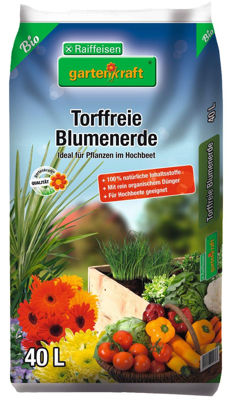 Bio Blumenerde Torffrei Gartenkraft 40 L