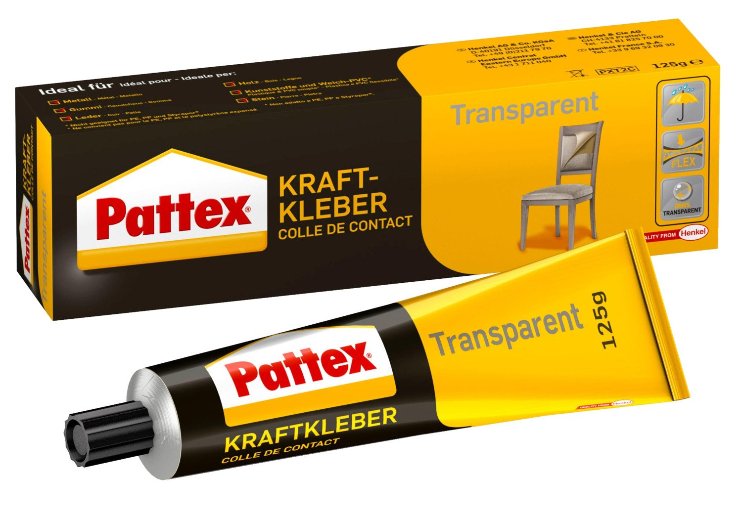 kraftkleber pattex transparent 125 g lagerhaus salzburg. Black Bedroom Furniture Sets. Home Design Ideas